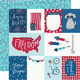 Simple Stories Stars, Stripes + Sparklers Elements & Stars Patterned Paper