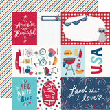 Simple Stories Stars, Stripes + Sparklers Elements & Stripes Patterned Paper