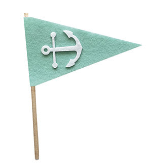 Fancy Pants Felt Pennants Anchor Felt Pennant Embellishment
