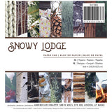 American Crafts Holiday Photo Real Snowy Lodge 6x6 Paper Pad