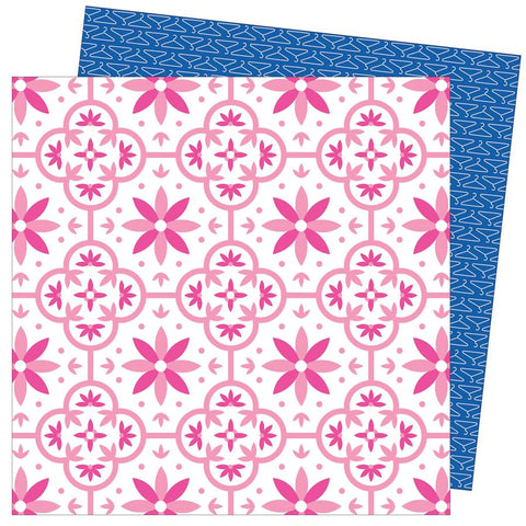 American Crafts Damask Love Write At Home Hang In There Baby Patterned Paper