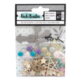 American Crafts Vicki Boutin Let's Wander Mixed Embellishment Pack