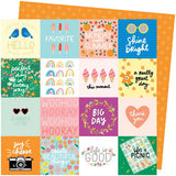 American Crafts Amy Tangerine Picnic In The Park Life's a Picnic Patterned Paper