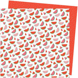 American Crafts Amy Tangerine Picnic In The Park One in a Melon Patterned Paper
