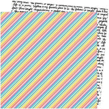 American Crafts Amy Tangerine Picnic In The Park Bright Lines Patterned Paper