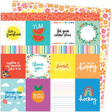 American Crafts Amy Tangerine Picnic In The Park You Are My Happy Patterned Paper