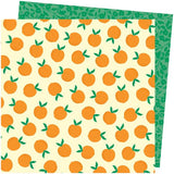 American Crafts Amy Tangerine Picnic In The Park You're Peachy Patterned Paper