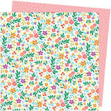 American Crafts Amy Tangerine Picnic In The Park Petaluma Petunia Patterned Paper