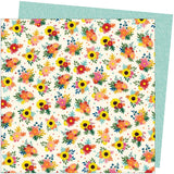 American Crafts Amy Tangerine Late Afternoon Bright Bouquets Patterned Paper