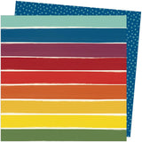 American Crafts Amy Tangerine Late Afternoon Rainbow Lane Patterned Paper