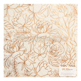 American Crafts Amy Tangerine Late Afternoon Vellum Copper Foil Specialty Paper
