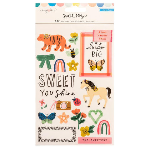 Crate Paper Maggie Holmes Sweet Story Clear and Cardstock Sticker Book