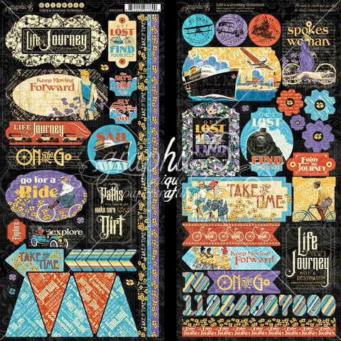 Graphic 45 Life's a Journey Sticker Embellishments