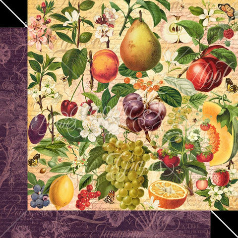 Graphic 45 Fruit & Flora Nature's Bounty Patterned Paper