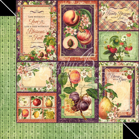 Graphic 45 Fruit & Flora Orchard Fresh Patterned Paper