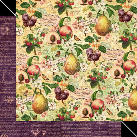 Graphic 45 Fruit & Flora Life is Sweet Patterned Paper