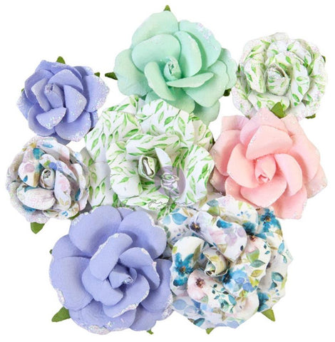 Prima Marketing Watercolor Floral Rose Gouache Mulberry Paper Flowers