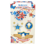 BoBunny Celebrating Freedom Layered Chipboard Embellishments