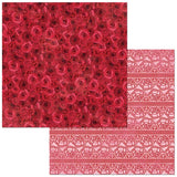 BoBunny Count The Ways  Red Roses Patterned Paper