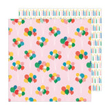 Pebbles Happy Cake Day Balloon Bouquet Patterned Paper