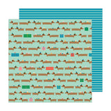Pebbles Happy Cake Day Hot Diggity Dog Patterned Paper