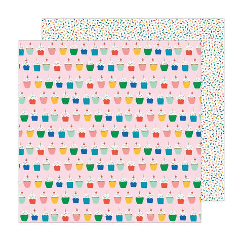 Pebbles Happy Cake Day Hey Cupcake Patterned Paper