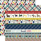 Echo Park A Dog's Tail Border Strips Patterned Paper