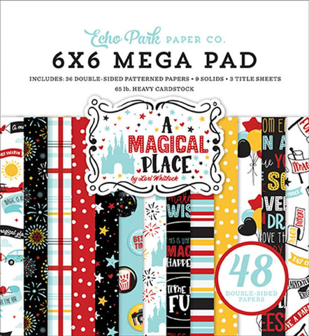 Echo Park A Magical Place Cardmakers 6X6 Mega Paper Pad