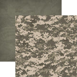 Reminisce Army Army Camo Patterned Paper