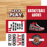 Echo Park Basketball 4X6 Journaling Cards Patterned Paper