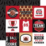 Echo Park Basketball 4X4 Journaling Cards Patterned Paper