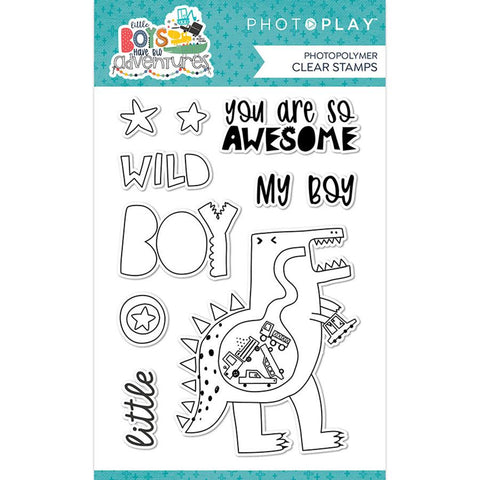 Photoplay Paper Little Boys Have Big Adventures  Etched Metal Die Set