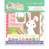 Photoplay Paper Baskets of Bunnies Ephemera Die Cut Embellishments