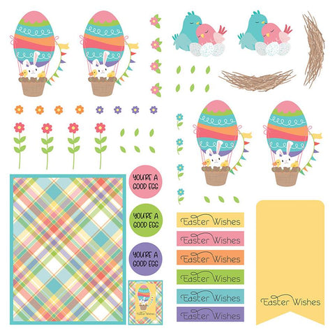 Photoplay Paper Baskets of Bunnies Dies Paper Patterned Paper