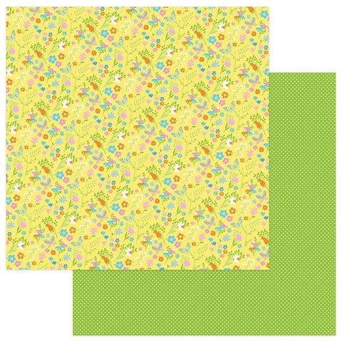 Photoplay Paper Bunny Trail Spring Flowers Patterned Paper