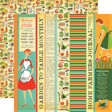 Carta Bella Country Kitchen Garden to Table Strips Patterned Paper