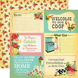 Carta Bella Country Kitchen 4x6 Journaling Cards Patterned Paper