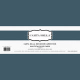 Carta Bella Designer Cardstock  - Nautical Blue Linen