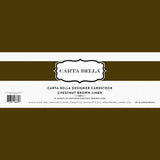 Carta Bella Designer Cardstock - Chestnut Brown Linen
