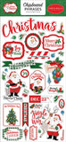 Carta Bella Dear Santa 6x13 Chipboard Phrase Embellishments