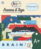 Carta Bella School Days Frames & Tags Embellishments