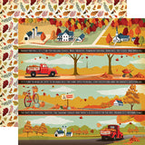 Carta Bella Fall Break Border Strips Patterned Paper