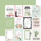 Carta Bella Flower Garden 3X4 Journaling Cards Patterned Paper