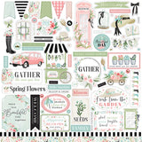Carta Bella Flower Garden Element Sticker Sheet