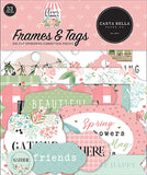 Carta Bella Flower Garden Frames & Tag Embellishments