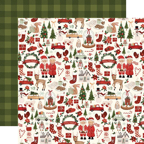 Carta Bella Hello Christmas Merry Christmas   Patterned Paper