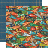 Carta Bella Summer Camp Camp Pennants Patterned Paper