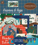 Carta Bella Summer Camp Frames & Tags Embellishments