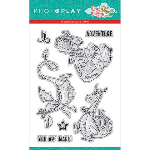 Photoplay Paper Dragon Dreams Dragons Clear Acrylic Stamp Set