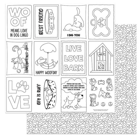 Photoplay Paper Dog Lover Color Me  Patterned Paper